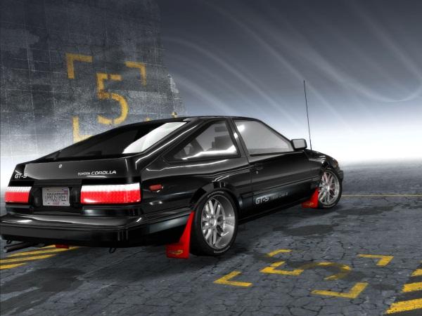 Новая задняя оптика и брызговики для COROLLA AE86