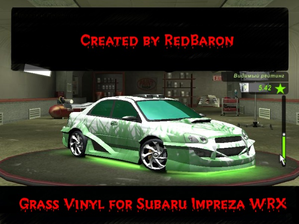 Grass Vinyl for Subaru Impreza WRX