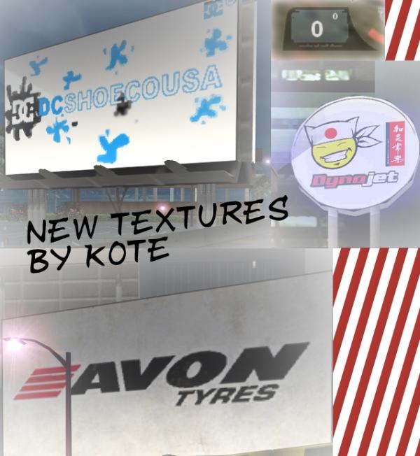 Новые текстуры для рекланых щитов и угломера.