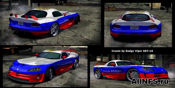 Russia Vinyl For Dodge Viper